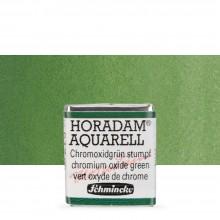 Schmincke : Horadam Watercolour Paint : Half Pan : Chromium Oxide Green
