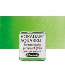 Schmincke : Horadam Watercolour Paint : Half Pan : Permanent Green