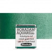 Schmincke : Horadam Watercolour Paint : Half Pan : Cobalt Green Dark