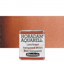 Schmincke : Horadam Watercolour Paint : Half Pan : Translucent Brown