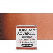 Schmincke : Horadam Watercolour : Half Pan : Transparent Brown (Translucent Brown)