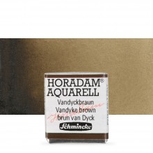 Schmincke : Horadam Watercolour Paint : Half Pan : Vandyke Brown