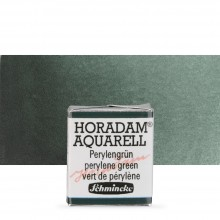 Schmincke : Horadam Watercolour Paint : Half Pan : Perylene Green
