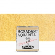 Schmincke : Horadam Watercolour Paint : Half Pan : Gold