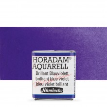 Schmincke : Horadam Watercolour Paint : Half Pan : Brilliant Blue Violet