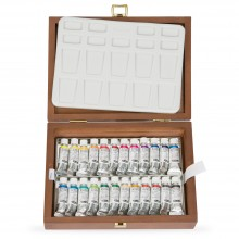 Schmincke : Horadam Watercolour Paint : Wooden Box Set : 24x5ml Tubes