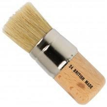 Handover : White Bristle Stencil Brush : #24 - 1 1/2 in