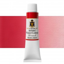Turner : Artist's Watercolour Paint : 15ml : Maya Red