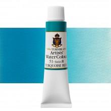 Turner : Artist's Watercolour Paint : 15ml : Turquoise Blue