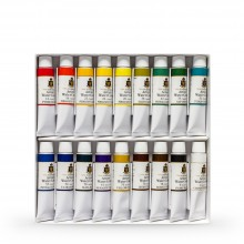 Turner : Artist's Watercolour Paint : 15ml : Set of 18 Colours