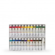 Turner : Artist's Watercolour Paint : 15ml : Set of 24 Colours