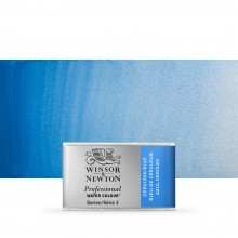 Winsor & Newton : Professional Watercolour Paint : Full Pan : Cerulean Blue