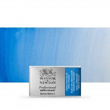 Winsor & Newton : Professional Watercolour Paint : Full Pan : Cerulean Blue (Red Shade)