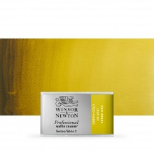 Winsor & Newton : Professional Watercolour Paint : Full Pan : Green Gold