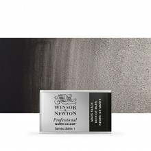 Winsor & Newton : Professional Watercolour Paint : Full Pan : Mars Black