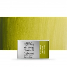 Winsor & Newton : Professional Watercolour Paint : Full Pan : Olive Green
