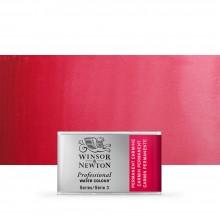 Winsor & Newton : Professional Watercolour : Full Pan : Permanent Carmine