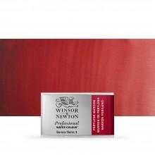 Winsor & Newton : Professional Watercolour : Full Pan : Perylene Maroon
