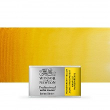 Winsor & Newton : Professional Watercolour Paint : Full Pan : Transparent Yellow