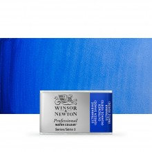 Winsor & Newton : Professional Watercolour Paint : Full Pan : Ultramarine (Green Shade)
