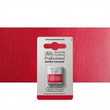 Winsor & Newton : Professional Watercolour Paint : Half Pan : Alizarin Crimson