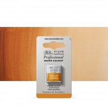Winsor & Newton : Professional Watercolour Paint : Half Pan : Brown Ochre