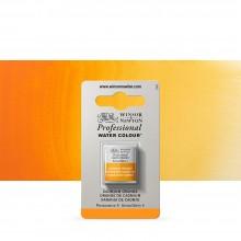 Winsor & Newton : Professional Watercolour Paint : Half Pan : Cadmium Orange
