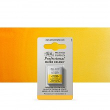 Winsor & Newton : Professional Watercolour Paint : Half Pan : Cadmium Yellow Deep