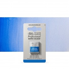 Winsor & Newton : Professional Watercolour Paint : Half Pan : Cobalt Blue