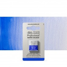 Winsor & Newton : Professional Watercolour Paint : Half Pan : Cobalt Blue Deep