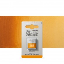 Winsor & Newton : Professional Watercolour Paint : Half Pan : Gold Ochre