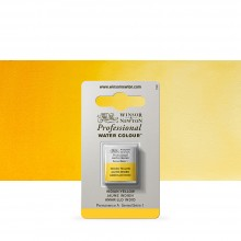 Winsor & Newton : Professional Watercolour Paint : Half Pan :Indian Yellow