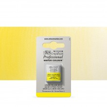 Winsor & Newton : Professional Watercolour : Half Pan : Lemon Yellow Deep