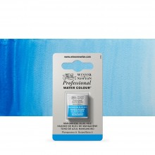 Winsor & Newton : Professional Watercolour Paint : Half Pan : Manganese Blue Hue