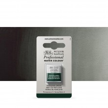 Winsor & Newton : Professional Watercolour Paint : Half Pan : Perylene Green