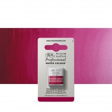 Winsor & Newton : Professional Watercolour Paint : Half Pan : Permanent Magenta
