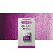 Winsor & Newton : Professional Watercolour : Half Pan : Permanent Mauve