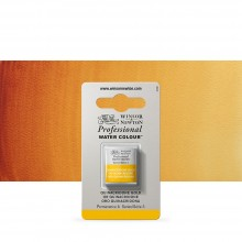 Winsor & Newton : Professional Watercolour Paint : Half Pan : Quinacridone Gold
