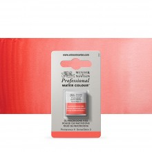 Winsor & Newton : Professional Watercolour Paint : Half Pan : Quinacridone Red