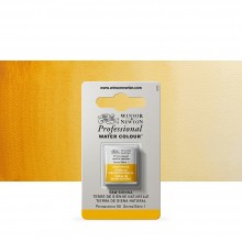 Winsor & Newton : Professional Watercolour Paint : Half Pan : Raw Sienna