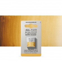 Winsor & Newton : Professional Watercolour Paint : Half Pan : Raw Umber