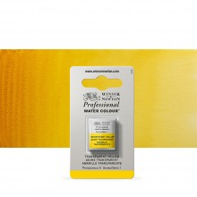 Winsor & Newton : Professional Watercolour Paint : Half Pan : Transparent Yellow