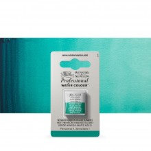 Winsor & Newton : Professional Watercolour Paint : Half Pan : Winsor Green (Blue Shade)