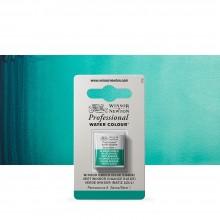 Winsor & Newton : Professional Watercolour : Half Pan : Winsor Green (Blue Shade)