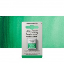 Winsor & Newton : Professional Watercolour : Half Pan : Winsor Green (Yellow Shade