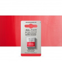 Winsor & Newton : Professional Watercolour Paint : Half Pan : Winsor Red