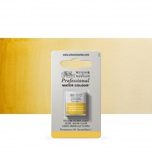 Winsor & Newton : Professional Watercolour Paint : Half Pan : Yellow Ochre Light