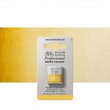 Winsor & Newton : Professional Watercolour : Half Pan : Yellow Ochre Light