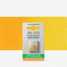 Winsor & Newton : Professional Watercolour : Half Pan : Cadmium-Free Yellow Deep