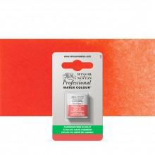 Winsor & Newton : Professional Watercolour : Half Pan : Cadmium-Free Scarlet